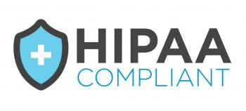 Logo that indicates HIPAA-compliance.